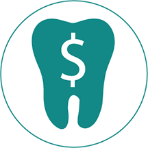 Tooth with dollar sign icon
